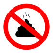No poop vector sign